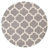 Artistic Weavers Pollack Stella 6-Foot Round Area Rug in Grey/White