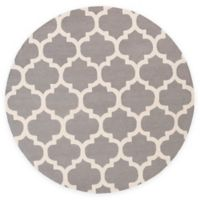 Artistic Weavers Pollack Stella 8-Foot Round Area Rug in Grey/White