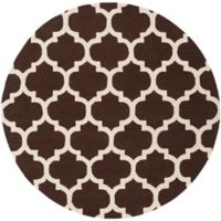 Artistic Weavers Pollack Stella 8-Foot Round Area Rug in Brown/White