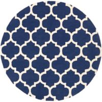 Artistic Weavers Pollack Stella 8-Foot Round Area Rug in Navy/White