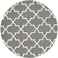 Artistic Weavers 6-Foot Round Pollack Keely Area Rug in Charcoal/White