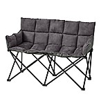 Double Seater Folding Chair in Graphite Grey