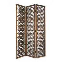 Wayborn Fullhouse Room Divider Screen in Brown
