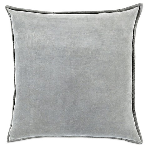 Light Grey Throw Pillow : Surya Velizh 22-Inch Square Throw Pillow in Light Grey - Bed Bath & Beyond