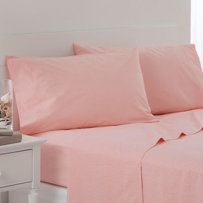 southern tide cabana stripe standard pillowcases in pink stripe set of 2
