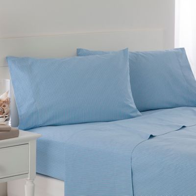 Southern Tide Cabana Stripe California King Sheet Set In Aqua Stripe