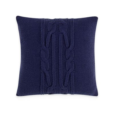 Nautica® Bartlett Knit 16 Inch Square Throw Pillow In Navy