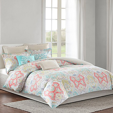 Echo Cyprus Reversible Comforter Set Bed Bath Amp Beyond