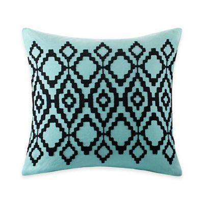 Echo Design Throw Pillows : Echo Design Kalea Tribal Square Throw Pillow in Aqua - Bed Bath & Beyond