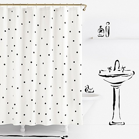Kate spade new york deco dot shower curtain bed bath for Bed bath and beyond kate spade