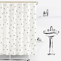 kate spade new york Deco Dot Shower Curtains in White