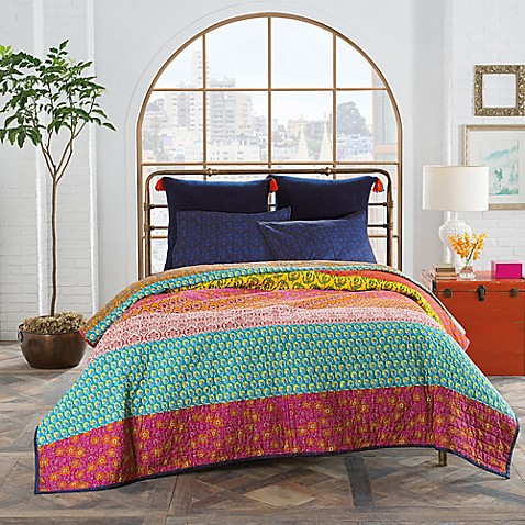 Anthology Samara Quilt In Blue Bed Bath Beyond
