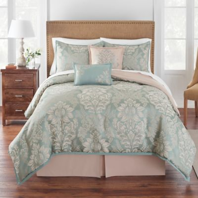 Grand Patrician King Brighton Comforter Set In Jade
