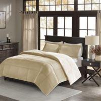Premier Comfort Jackson Full/Queen Corduroy Reversible Comforter Mini Set in Tan