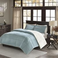 Premier Comfort Jackson Twin Corduroy Reversible Comforter Mini Set in Blue
