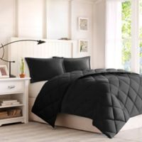 Comforter Classics Larkspur King Down Alternative Comforter Mini Set in Black