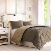 Comforter Classics Larkspur Full/Queen Down Alternative Comforter Mini Set in Brown