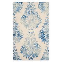 Safavieh Dip Dye Damask 5-Foot x 8-Foot Area Rug in Beige/Blue