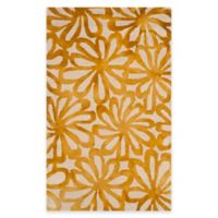 Safavieh Dip Dye Floral Burst 3-Foot x 5-Foot Area Rug in Beige/Gold
