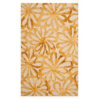 Safavieh Dip Dye Floral Burst 5-Foot x 8-Foot Area Rug in Beige/Gold
