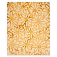 Safavieh Dip Dye Floral Burst 8-Foot x 10-Foot Area Rug in Beige/Gold