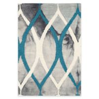 Safavieh Dip Dye Links 2-Foot x 3-Foot Accent Rug in Grey/Blue