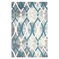 Safavieh Dip Dye Links 4-Foot x 6-Foot Area Rug in Grey/Blue