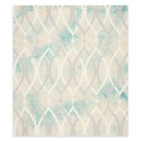 Safavieh Dip Dye Links 7-Foot Square Area Rug in Green/Ivory