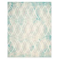 Safavieh Dip Dye Links 8-Foot x 10-Foot Area Rug in Green/Ivory