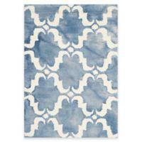 Safavieh Dip Dye Trellis Curve 2-Foot x 3-Foot Accent Rug in Blue/Ivory