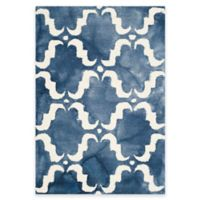 Safavieh Dip Dye Trellis Curve 2-Foot x 3-Foot Accent Rug in Navy/Ivory