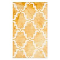 Safavieh Dip Dye Trellis Curve 2-Foot 6-Inch x 4-Foot Accent Rug in Gold/Ivory