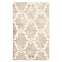 Safavieh Dip Dye Trellis Curve 2-Foot 6-Inch x 4-Foot Accent Rug in Beige/Ivory