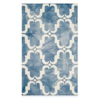 Safavieh Dip Dye Trellis Curve 3-Foot x 5-Foot Accent Rug in Blue/Ivory