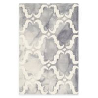 Safavieh Dip Dye Trellis Curve 3-Foot x 5-Foot Accent Rug in Grey/Ivory
