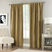 Vernet 84-Inch Rod Pocket/Back Tab Window Curtain Panel in Gold