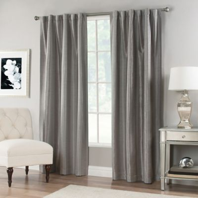 Buy Linen 63 Inch Window Curtain Panel In Grey From Bed