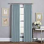 Spellbound Pinch-Pleat 95-Inch Rod Pocket Lined Window Curtain Panel in Blue