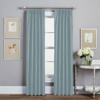 Spellbound Pinch-Pleat 84-Inch Rod Pocket Lined Window Curtain Panel in Blue