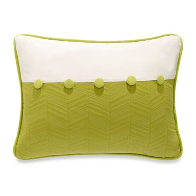 HiEnd Accents Capri Fern Quilted Oblong Throw Pillow in Green/White - Bed Bath & Beyond