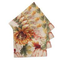 Autumn Sunflower 4-Pack Napkin Set