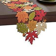 Serene Leaves Table Runner Bed Bath Amp Beyond