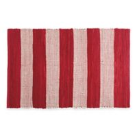 Chindi Hand-Woven 31.5-Inch x 20-Inch Kitchen Rug in Red/White Stripe