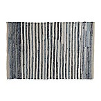 Chindi Hand-Woven Area Rug in Denim Stripe