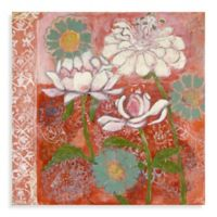 Marmont Hill Peony and Dahlia 32-Inch x 32-Inch Canvas Wall Art