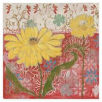 Marmont Hill Yellow Flowers 2 24-Inch x 24-Inch Canvas Wall Art