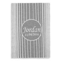 Tadpoles™ by Sleeping Partners Knit Ombré Vertical Stripe Blanket in Grey