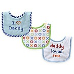 "BabyVision® Luvable Friends® 3-Pack ""I Love Daddy"" Drooler Bibs in Blue"