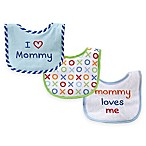 "BabyVision® Luvable Friends® 3-Pack ""I Love Mommy"" Drooler Bibs in Blue"