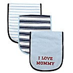 BabyVision® Luvable Friends® 3-Pack  I Love Mommy  Burp Cloth Set